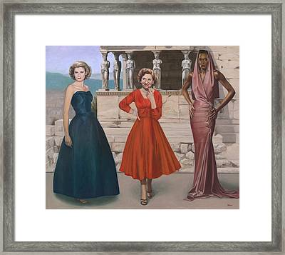 Three Graces Framed Print by Terry Guyer