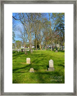 Three Gravestones Framed Print by Alys Caviness-Gober