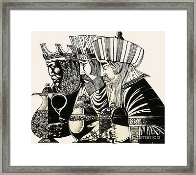 Three Kings Framed Print by Richard Hook