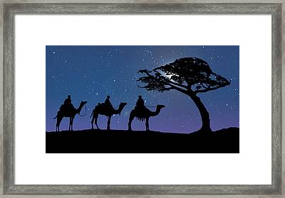Three Kings Framed Print by Schwartz