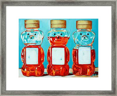 Three Little Bears Framed Print by Jayne Morgan