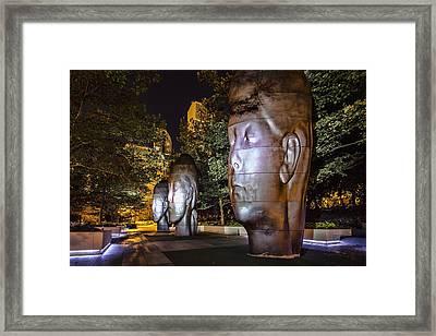 Three New Faces In Chicago's Millennium  Park Framed Print by Sven Brogren