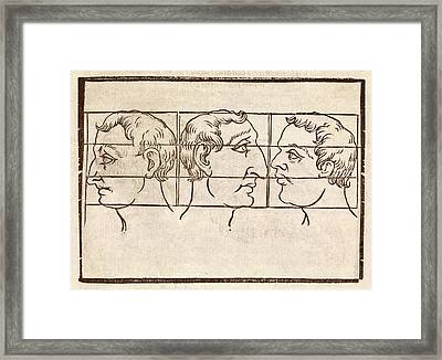 Three Nose Types Framed Print by Middle Temple Library