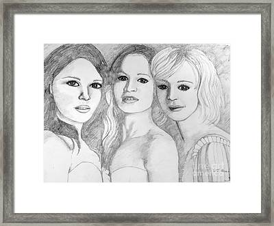 Three Of A Kind Framed Print by Stephen Brooks