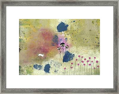 Three Pansies Framed Print by Sarah Ogren