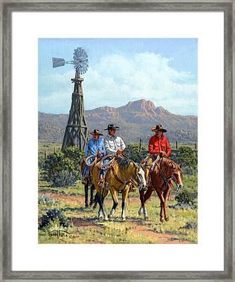 Three Riders Framed Print by Randy Follis