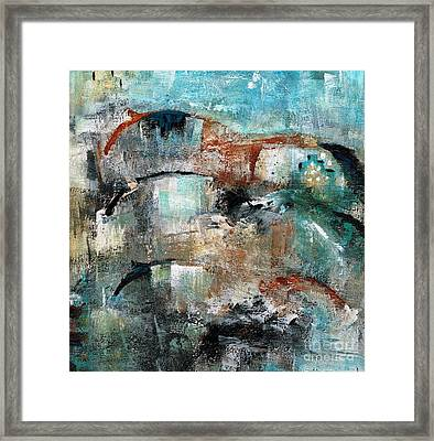 Three Running Horses Framed Print by Frances Marino