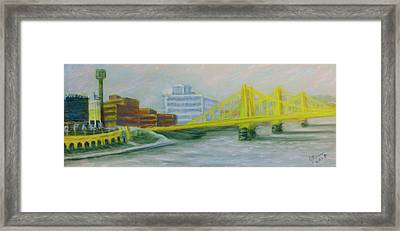 Three Sisters At Pnc Park Framed Print by Joann Renner