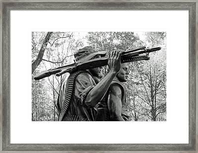 Three Soldiers In Vietnam Framed Print by Cora Wandel