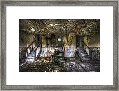 Three Stairs To Nowhere Framed Print by Nathan Wright
