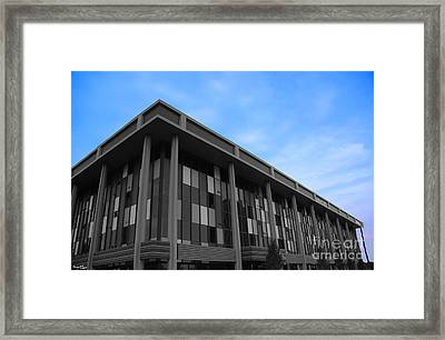 Three Story Selective Color Building Framed Print by Bill Woodstock
