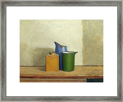 Three Tins Together Framed Print by William Packer
