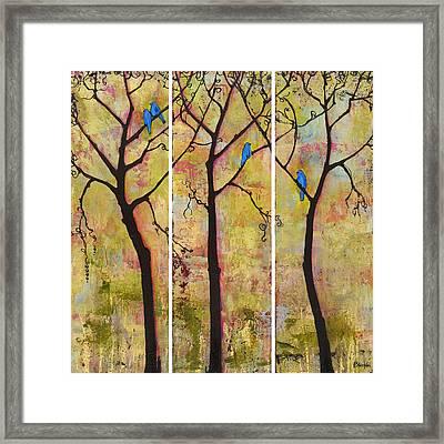 Three Trees Triptych Framed Print by Blenda Studio