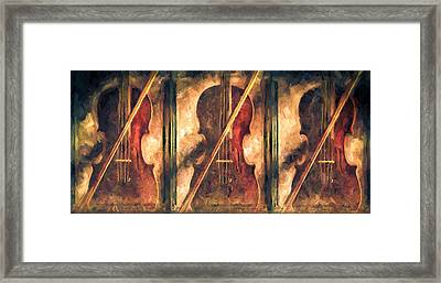 Three Violins Framed Print by Bob Orsillo