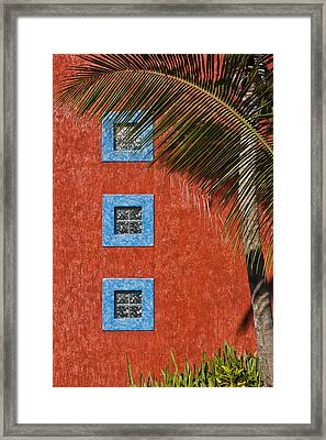 Three Windows Framed Print by Adam Romanowicz