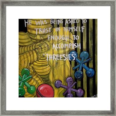 Threesies Framed Print by Darlene Graeser