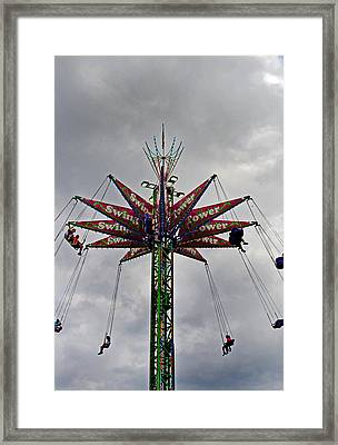 Thrill Tower Framed Print by Skip Willits