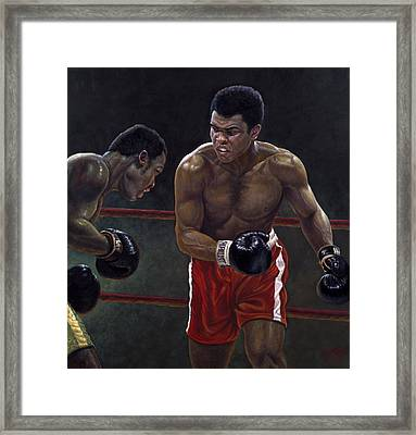 Thrilla In Manilla Framed Print by Gregory Perillo