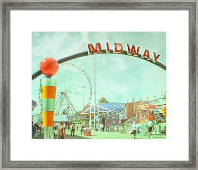 Thrills Of The Midway Framed Print by David and Carol Kelly
