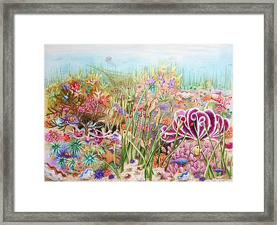 Thriving Ocean  Framed Print by Katherine Young-Beck