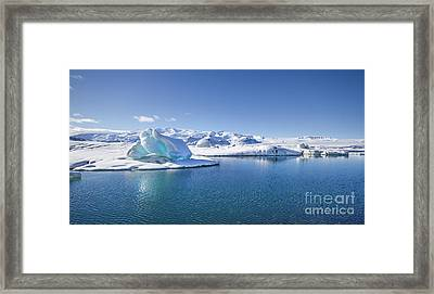 Throne Of Ice Framed Print by Evelina Kremsdorf
