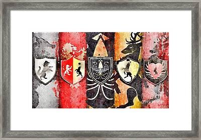 Thrones Framed Print by HELGE Art Gallery