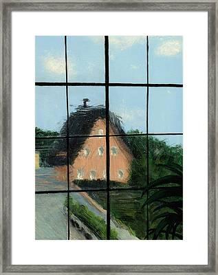 Through An Old Glass Window Framed Print by Karyn Robinson