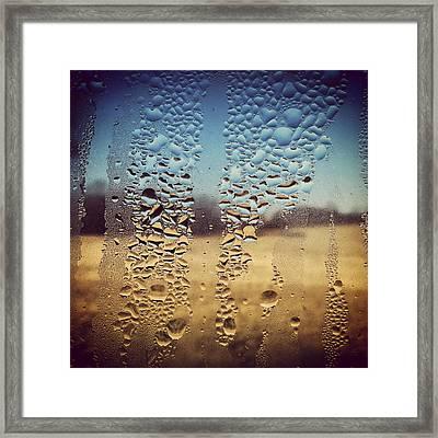 Through Glass 1 Framed Print by Natalie Lizza