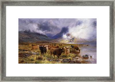 Through Glencoe By  Way To The Tay Framed Print by Louis Bosworth Hurt