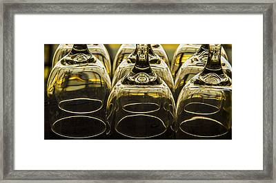 Through The Glasses Framed Print by Jean Noren
