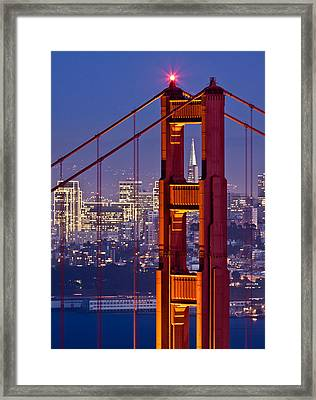 San Francisco Through The Letterbox Framed Print by Alexis Birkill