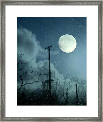 Through The Rainy Window Framed Print by Gothicolors Donna