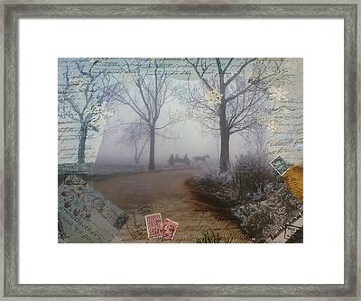Through The Woods Framed Print by Tamyra Crossley