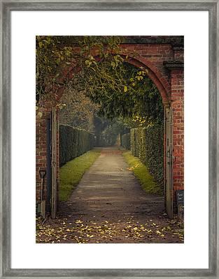 Through To The Autumn Gardens Framed Print by Chris Fletcher