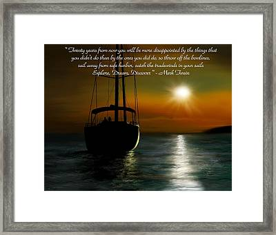 Throw Off The Bowlines Framed Print by Ron Grafe