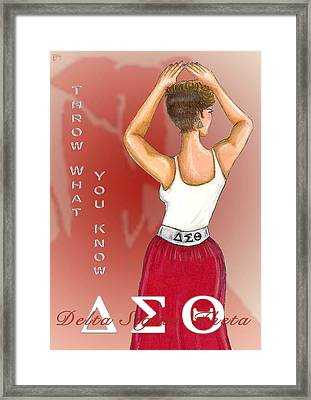 Throw What You Know Series - Delta Sigma Theta Framed Print by BFly Designs