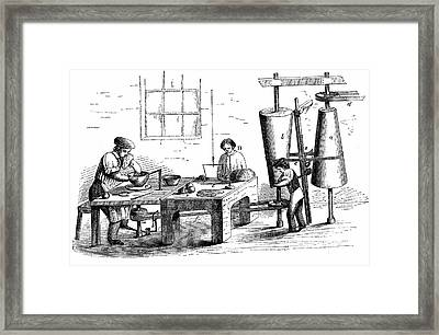 Throwing An Earthenware Vessel Framed Print by Universal History Archive/uig
