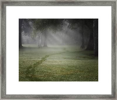 Thru The Fog Framed Print by Bill Wakeley