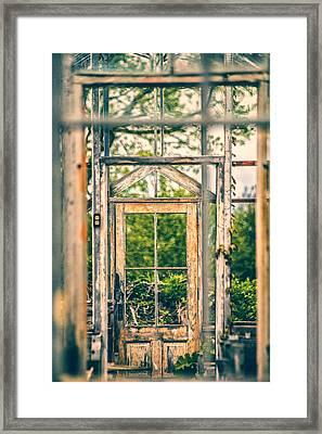 Thru Times Window Framed Print by Karol Livote