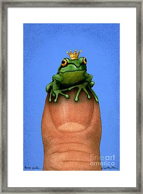 Thumb Prince... Framed Print by Will Bullas