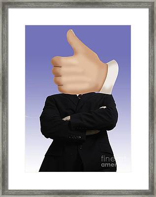 Thumbs Up Framed Print by Monica Schroeder