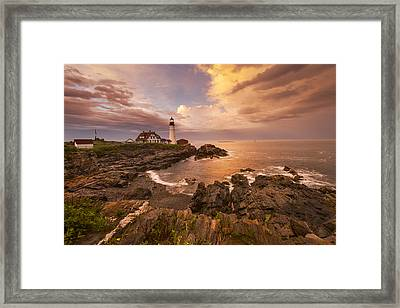 Thunder Cove Framed Print by Joseph Rossbach