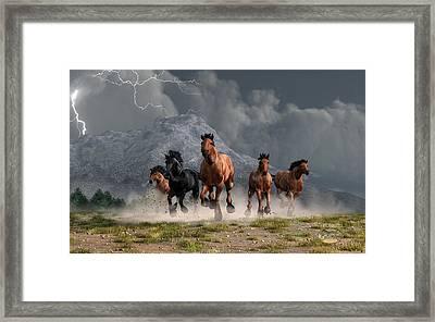 Thunder On The Plains Framed Print by Daniel Eskridge