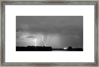 Thunder Rolls And The Lightnin Strikes Bwsc Framed Print by James BO  Insogna