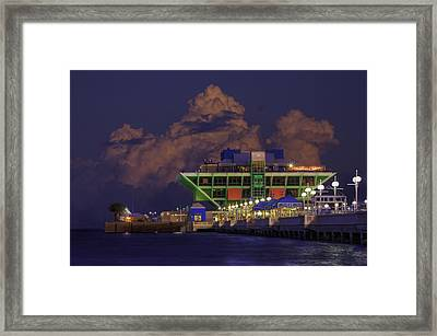 Thunder Storm At The Pier Framed Print by Marvin Spates