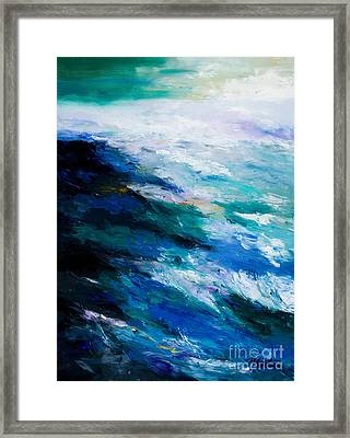 Thunder Tide Framed Print by Larry Martin