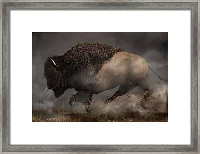 Thunderbeast Framed Print by Daniel Eskridge
