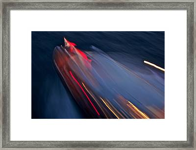 Thunderbird At Night Framed Print by Steven Lapkin