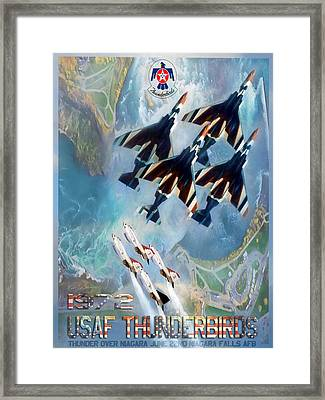 Thunderbirds Poster  Framed Print by Peter Chilelli