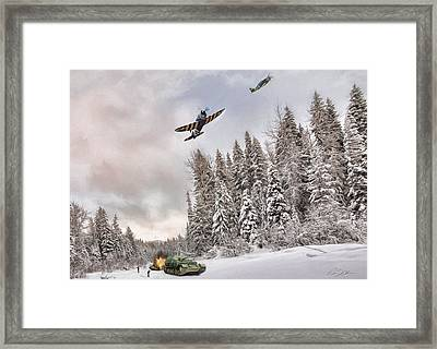 Thunderbolt Attack Framed Print by Peter Chilelli